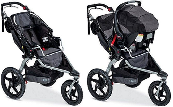 Bob Double Stroller With Car Seat. Image Is Loading. Bob ...