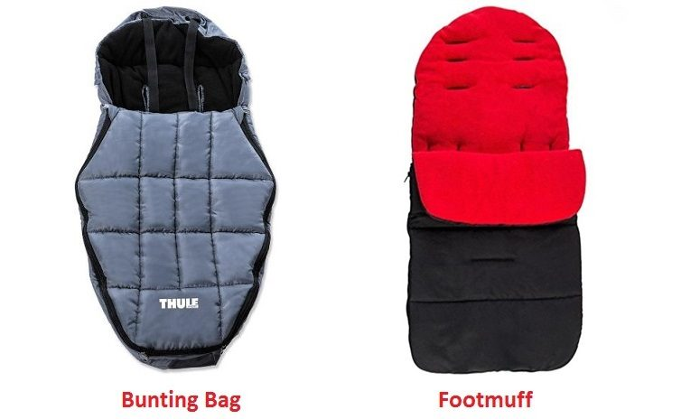 difference between bunting bag and a footmuff