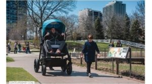 Parents Test-Drive Adult-Sized Baby Stroller to Get First hand Experience of Their Kid's Ride