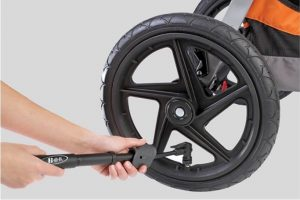 how to fill air in stroller tire