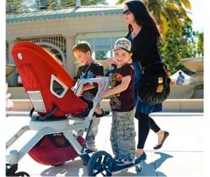 orbit baby sidekick stroller board with two boards attached
