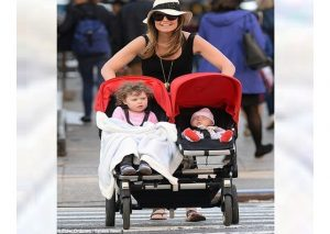 savannah guthrie pushing double stroller