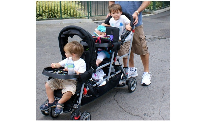 triple sit-and-stand stroller