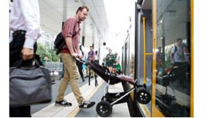 stroller pram on public transportation