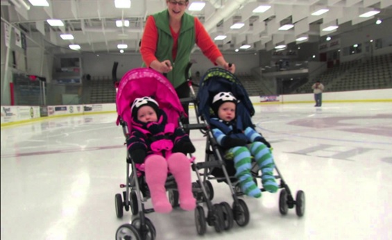 skating with stroller